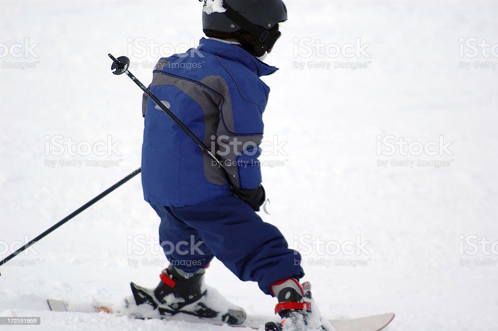 People : Munchkin Skiing stock photo