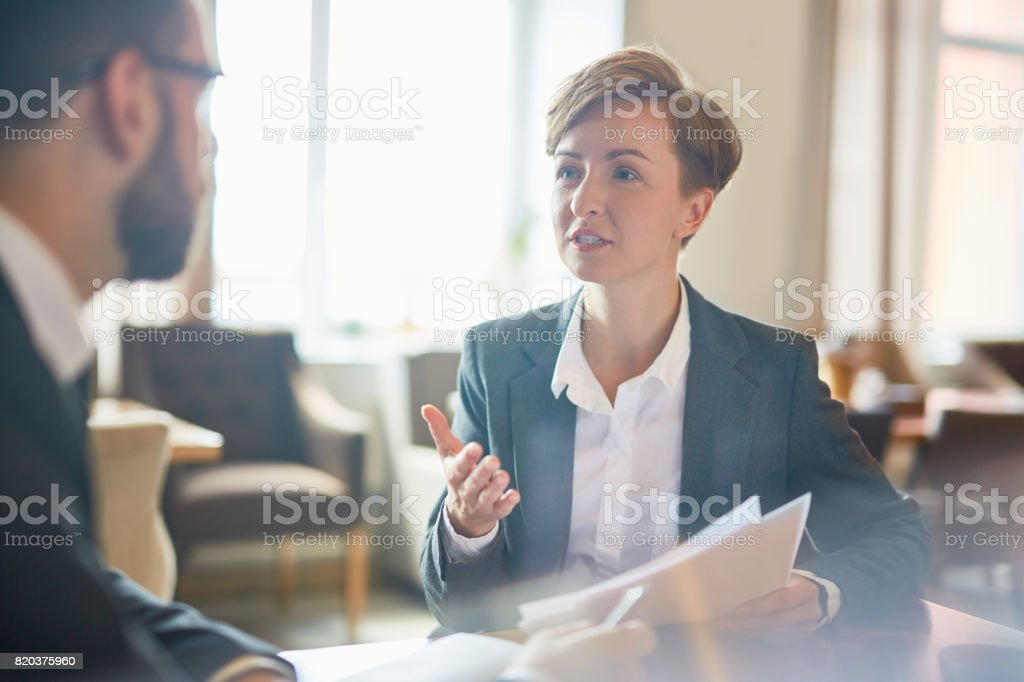 People negotiating stock photo