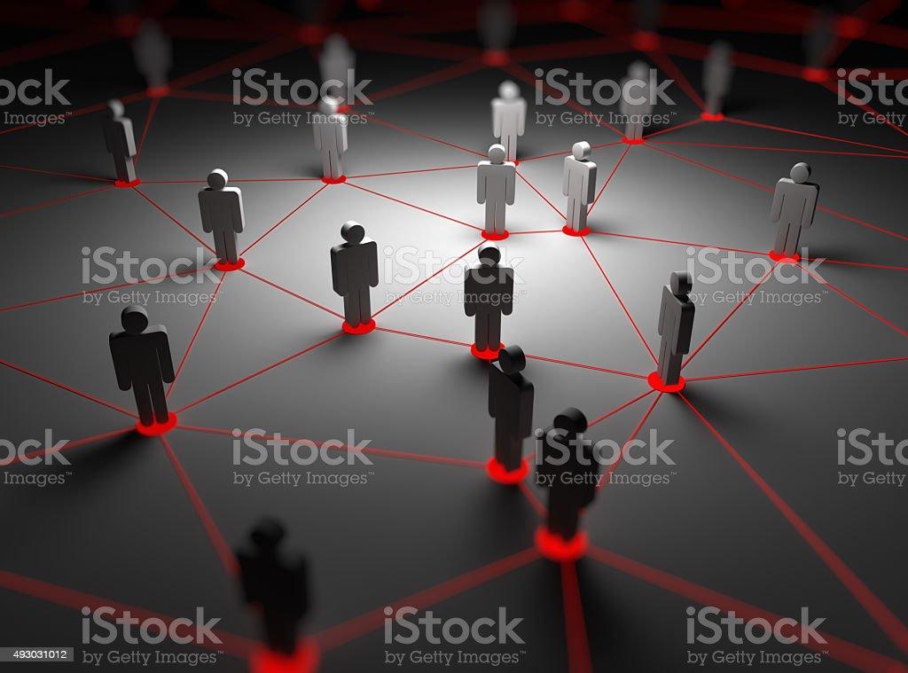 People network stock photo