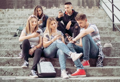 People Obsessed With Their Smartphones, Diversity People Connection Digital Devices Browsing Concept