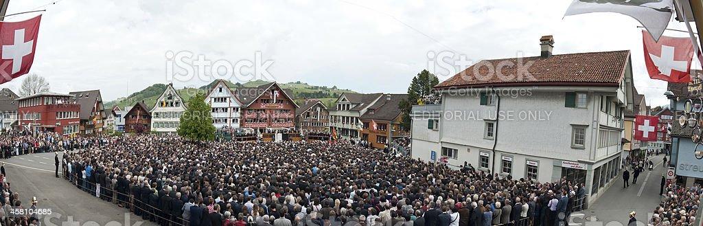 Menschen Appenzell während der Landsgemeinde, Schweiz – Foto