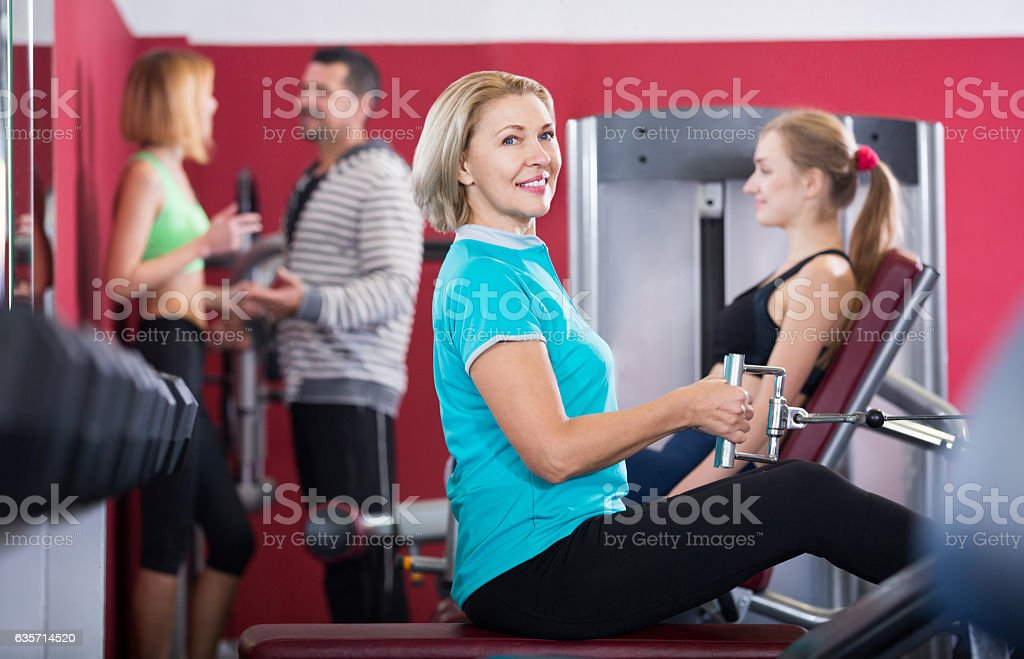 People of different age having training royalty-free stock photo