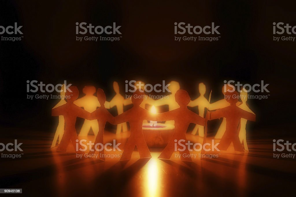 people of paper royalty-free stock photo