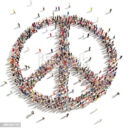 istock People of peace. 486484152