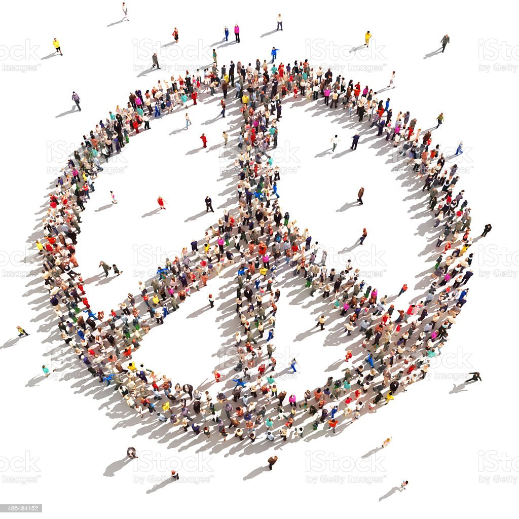 People of peace. stock photo