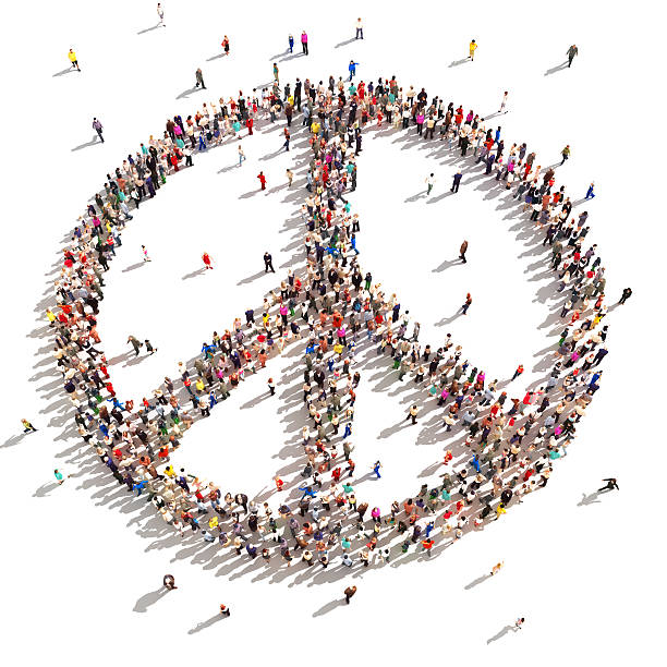 people of peace. - symbols of peace stock pictures, royalty-free photos & images