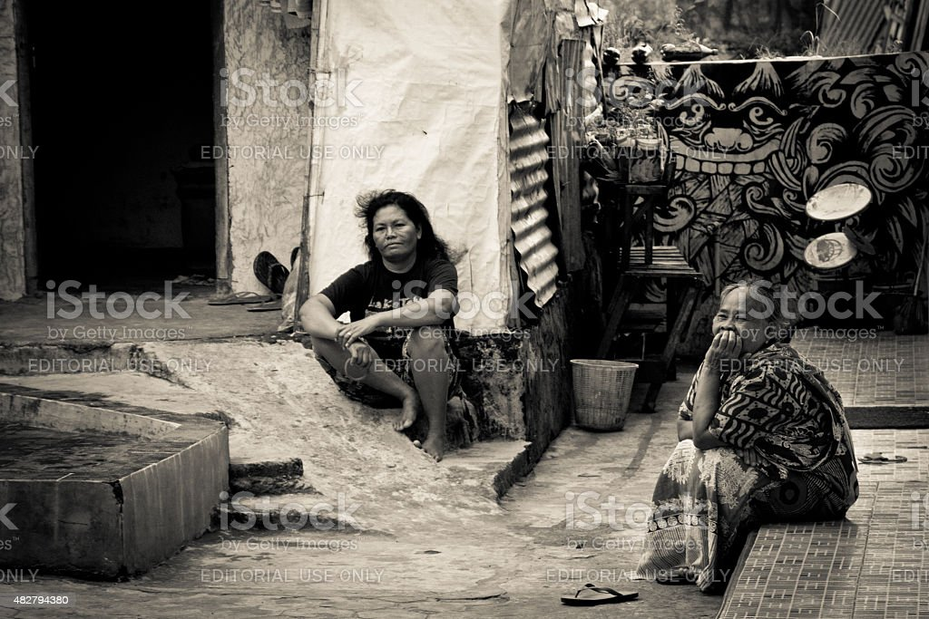 People Of The Indonesian Riverside Slums Of Malang Indonesia Stock Photo Download Image Now Istock