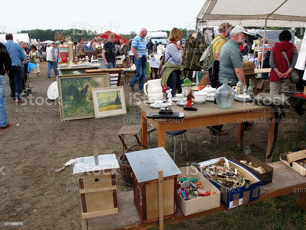 People On A Flea Market Stock Photo Download Image Now Istock