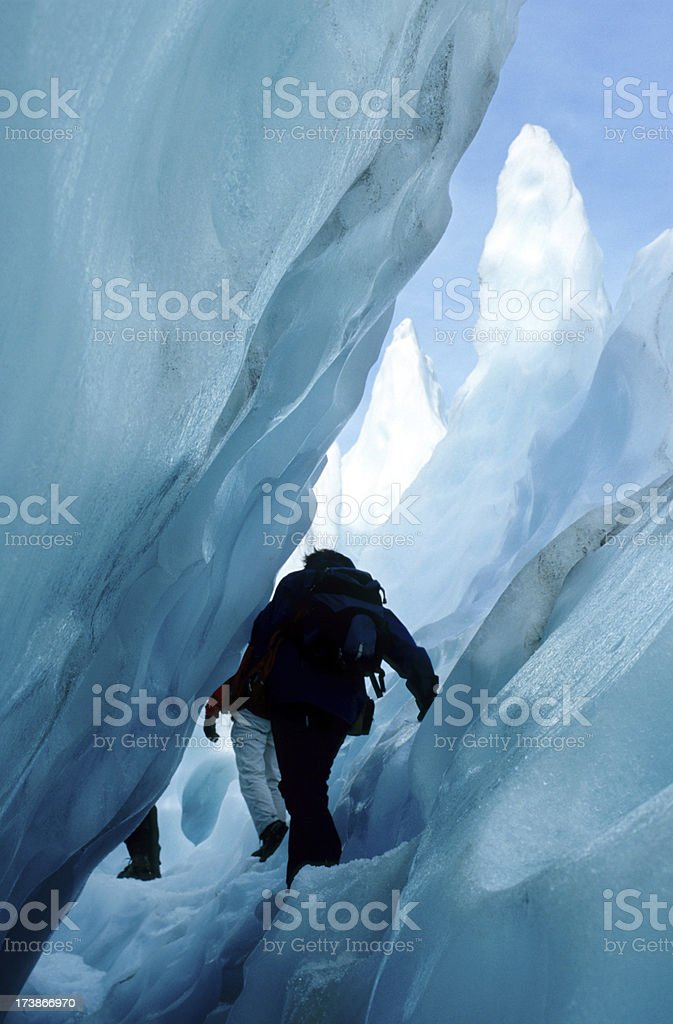 People on a Glacier stock photo