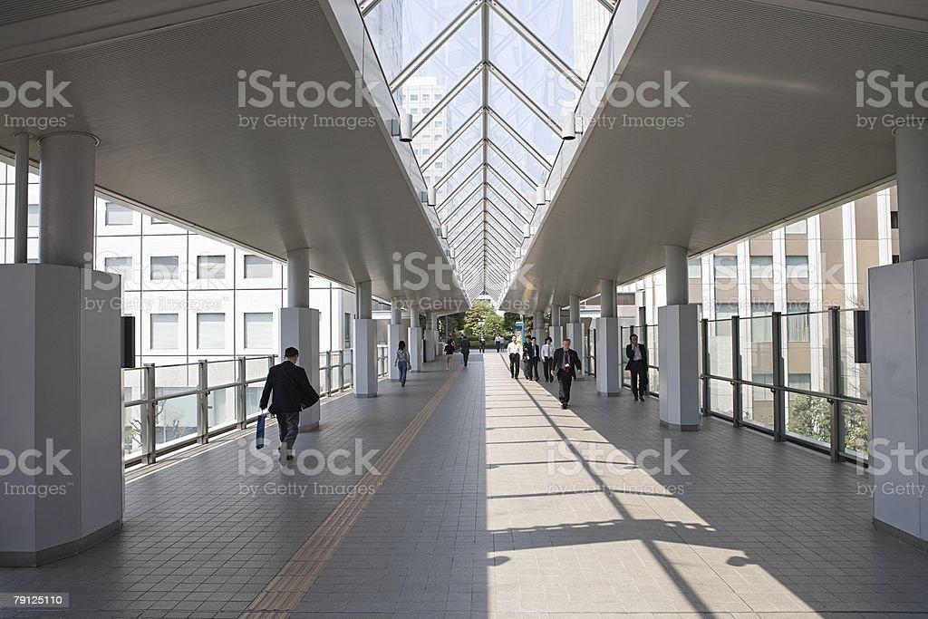 People on a walkway 免版稅 stock photo
