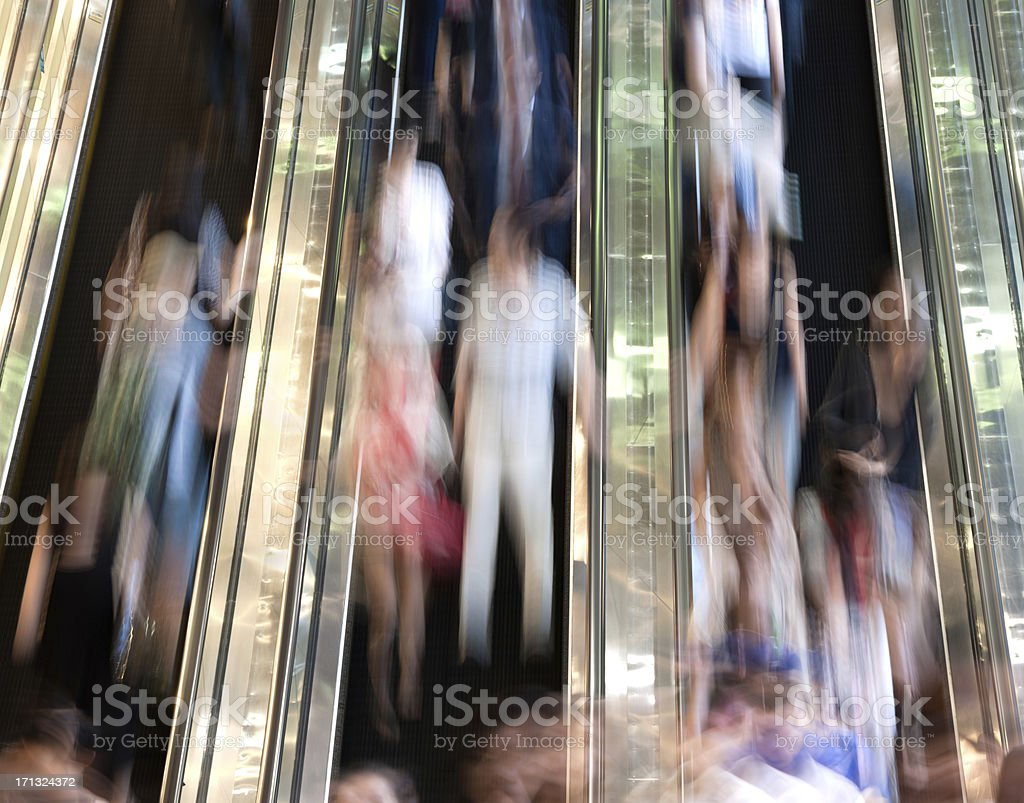 People on an Escalator royalty-free stock photo