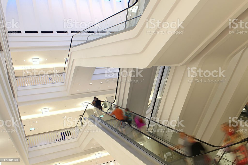 People on escalator in shopping mall. royalty-free stock photo