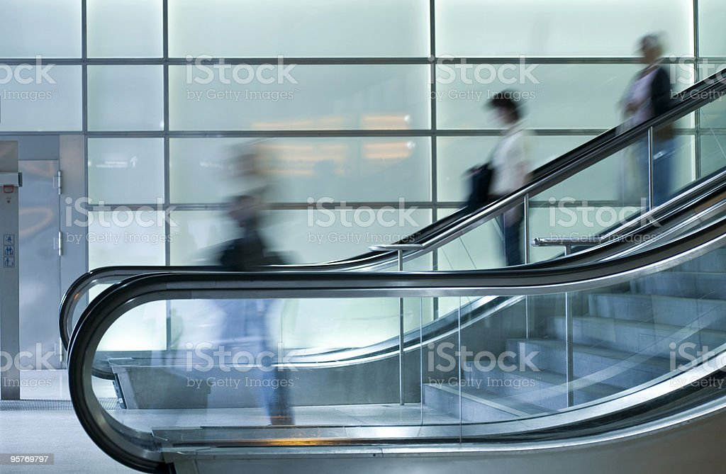 People on Escalator royalty-free stock photo