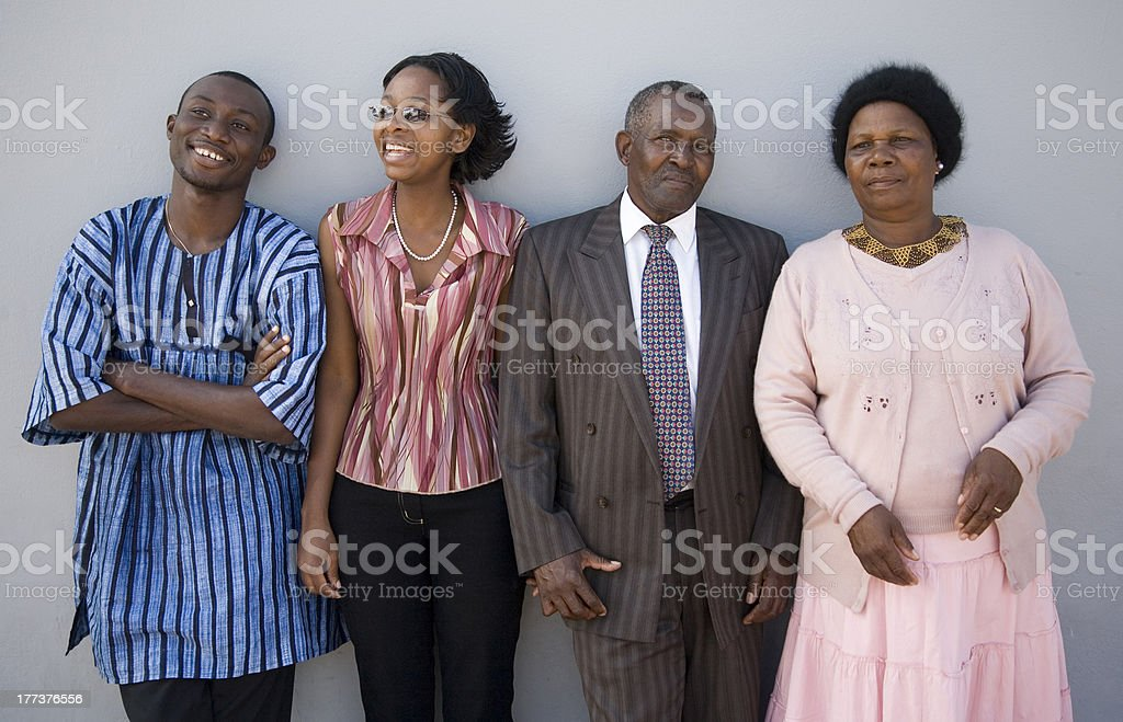 People on grey stock photo