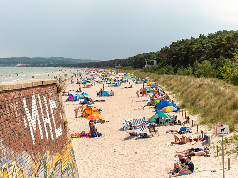 People on Rügen Relaxing at the Beach