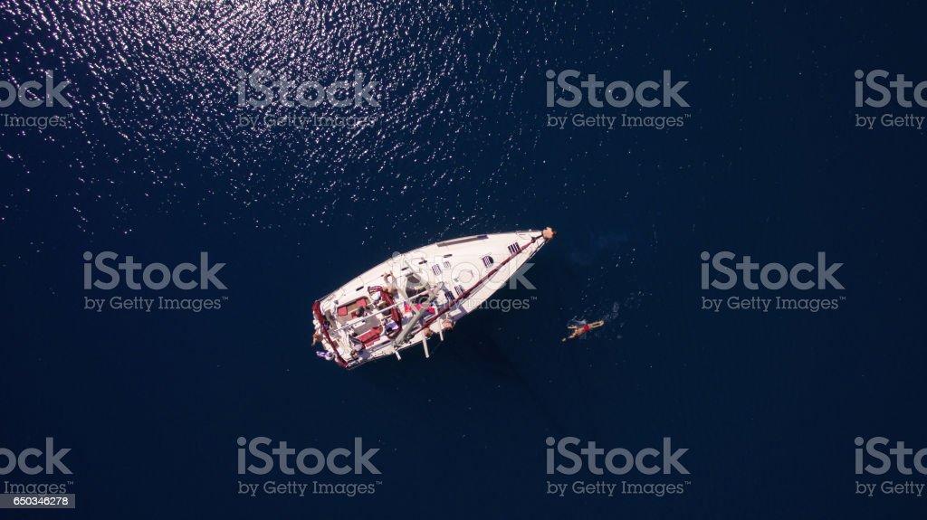 People on sailing стоковое фото