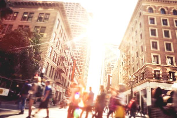 Gens sur la rue du centre-ville de San Francisco - Photo