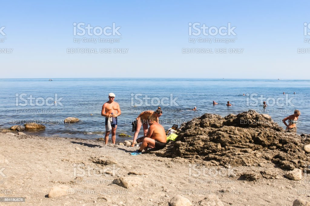 People on the beach. royalty-free stock photo
