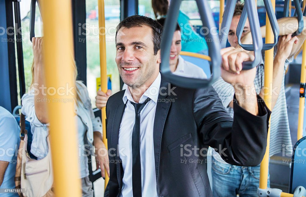 People on the bus. royalty-free stock photo