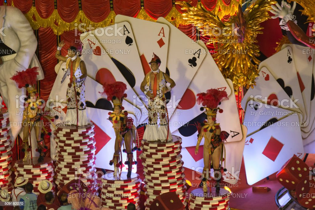 People on the casino float royalty-free stock photo