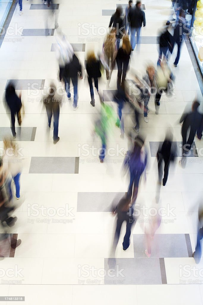 People on the move royalty-free stock photo