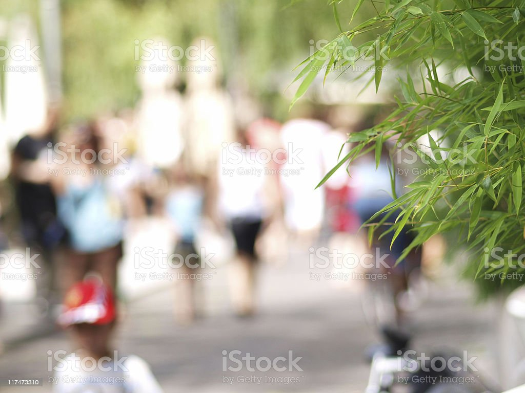People on the Sidewalk royalty-free stock photo