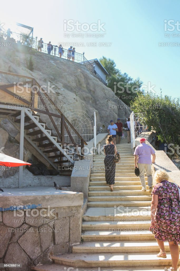 People on the stairs. royalty-free stock photo