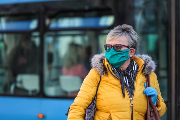 People on the street coronavirus stock photo