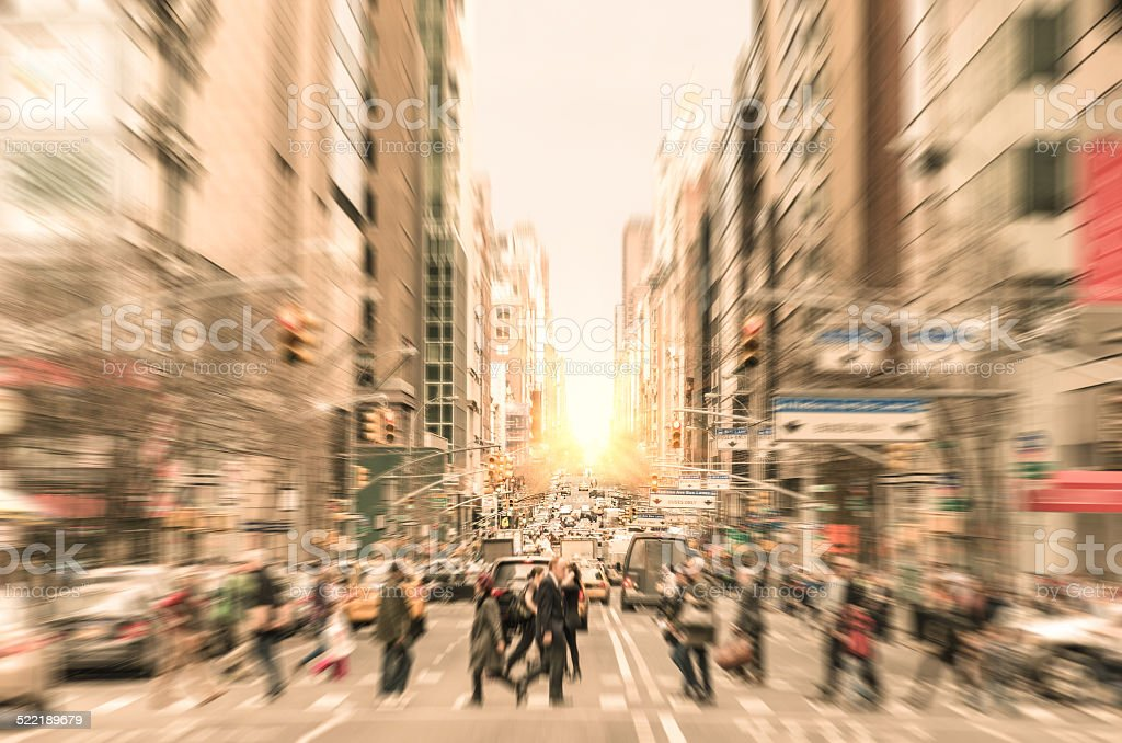 People on the street in Manhattan - New York City stock photo