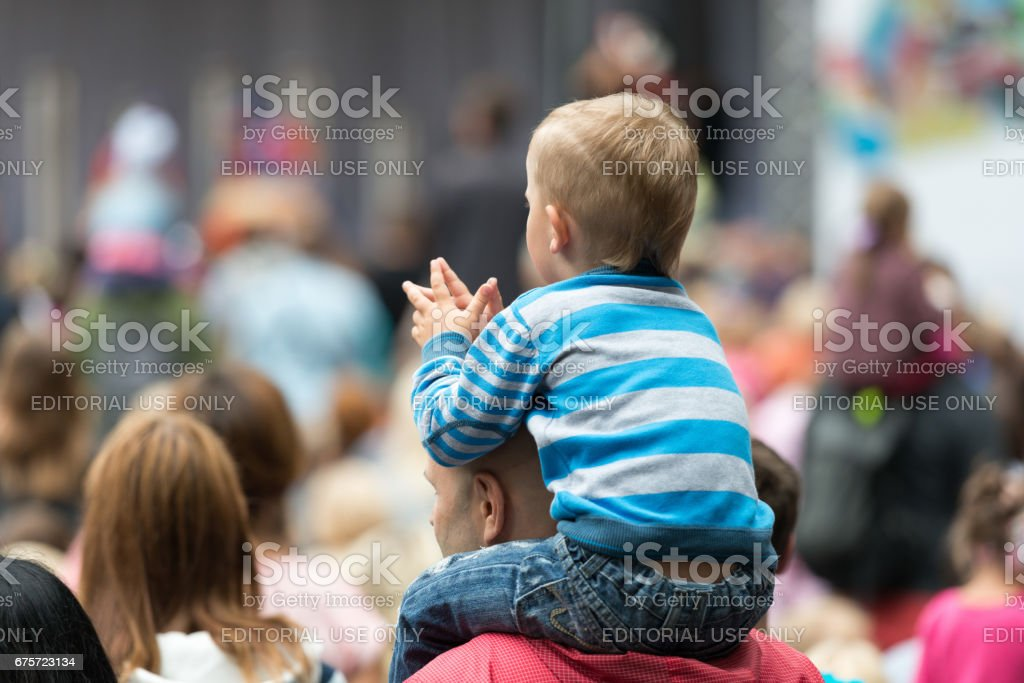 People on the streets of Riga City Festival. stock photo