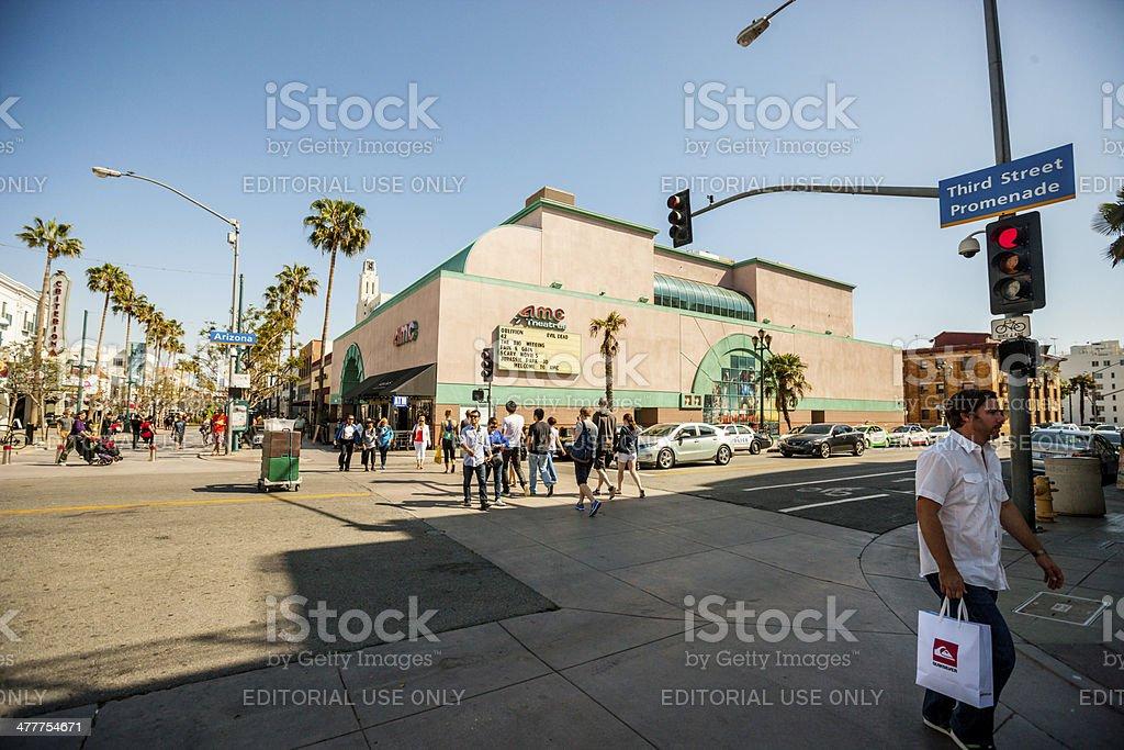 People on Third Street Promenade, Santa Monica, USA stock photo