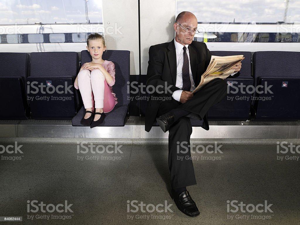 Ludzie na pociąg zbiór zdjęć royalty-free