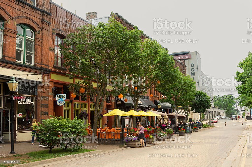 People on Victoria Row in Charlottetown in Canada stock photo