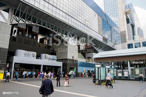 istock People outside Kyoto Station in city 584001110