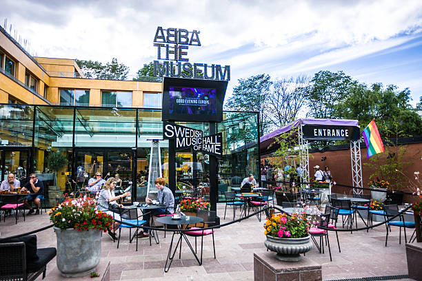 People outside of ABBA Museum, Stockholm, Sweden – Foto