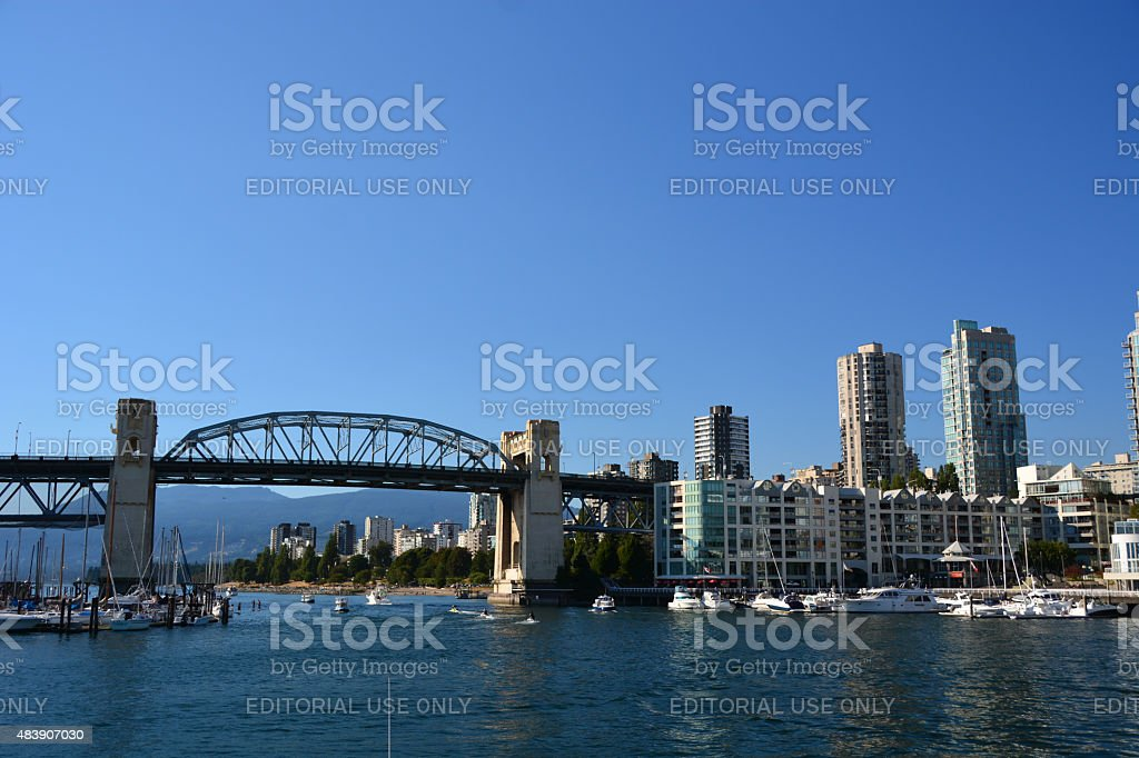 People paddle boarding at Vancouver stock photo