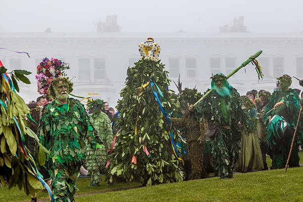 People parade at Hastings' annual Jack-in-the-Green Festival, May 2016 - Photo