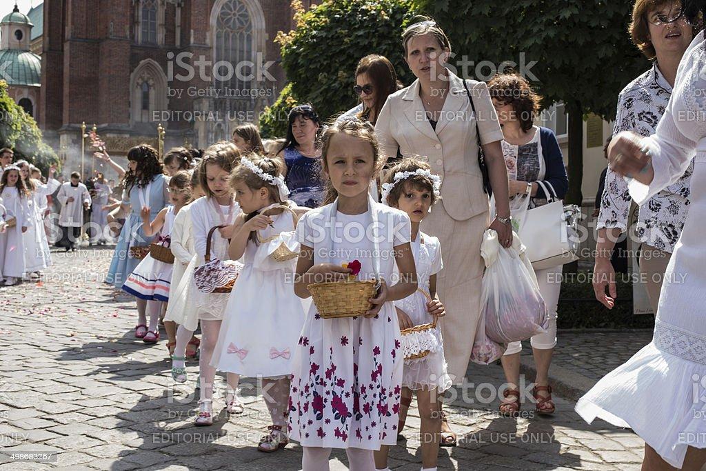 People Participating in Catholic Religious Celebration royalty-free stock photo