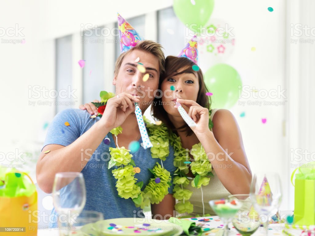 People partying royalty-free stock photo