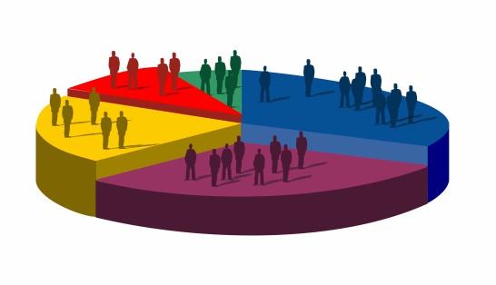 population pie chart illustration