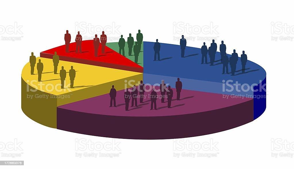 people pie chart stock photo
