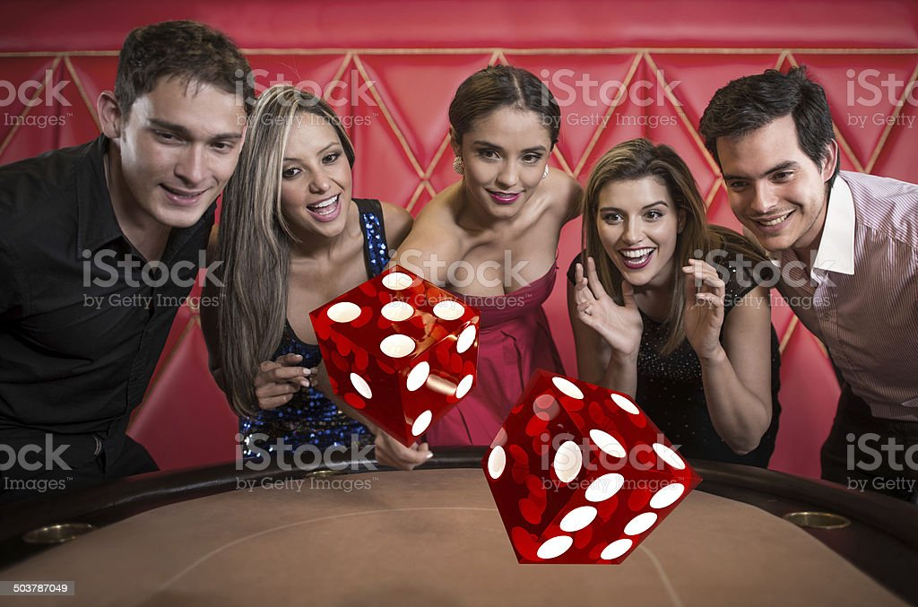 People playing at the casino stock photo