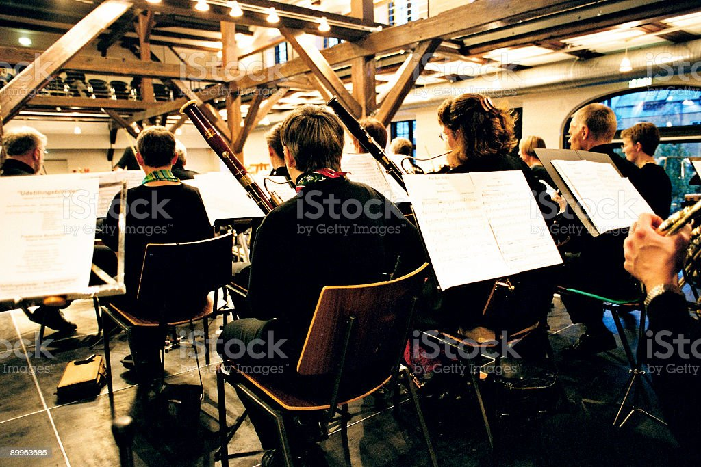 People Playing Music royalty-free stock photo