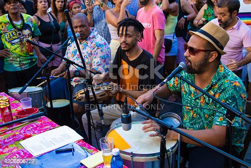 istock People playing samba at downtown of Rio de Janeiro 1226806727