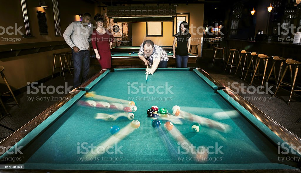 People Playing Snooker and Pool royalty-free stock photo