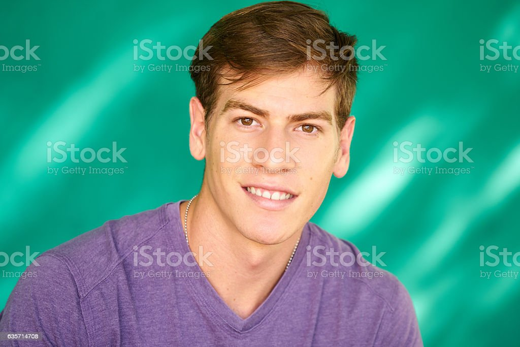 People Portrait Young Latino Man Smiling With Happy Face royalty-free stock photo