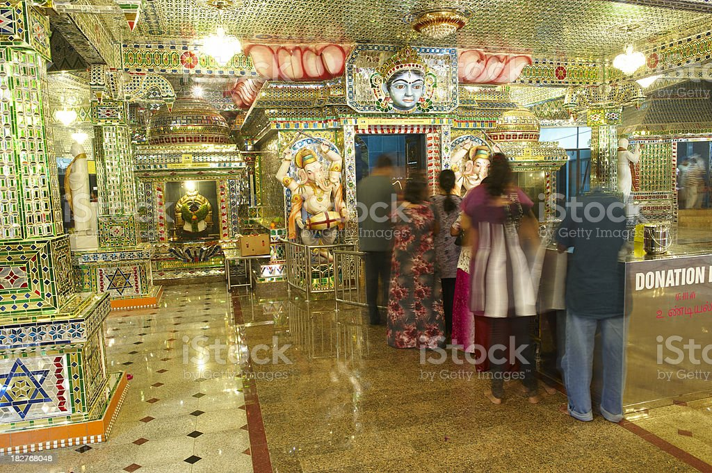 People Pray in The Glass Temple stock photo