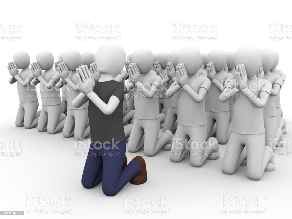 people praying stock photo