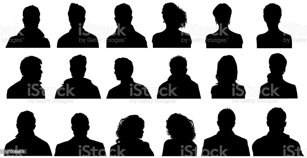 Personen Profil Silhouetten – Foto