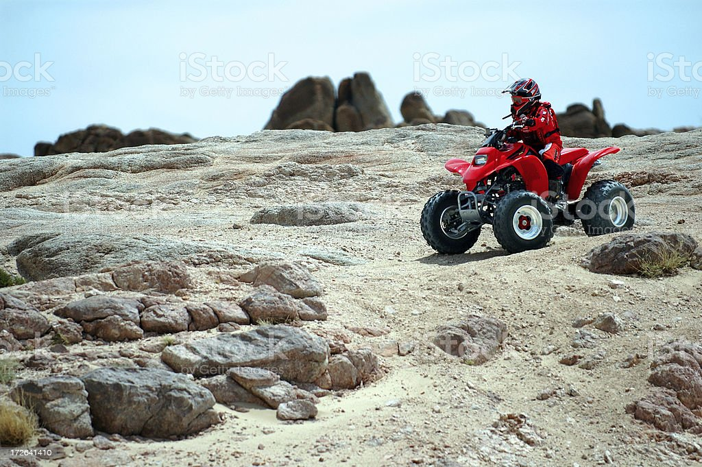 People : Quad Desert Racer royalty-free stock photo